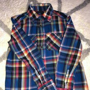 Ralph Lauren button down blue  boys shirt size 8